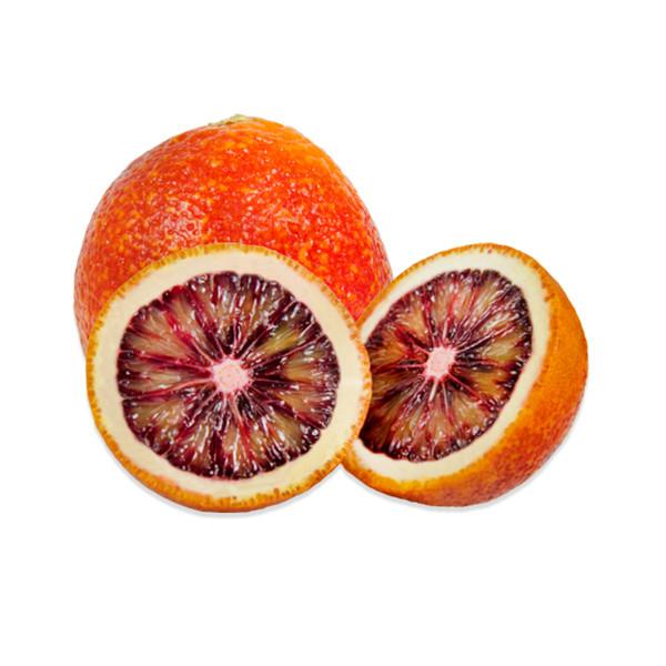 Blood oranges, whole & halved