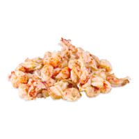 mound of peeled, par cooked crayfish tail meat
