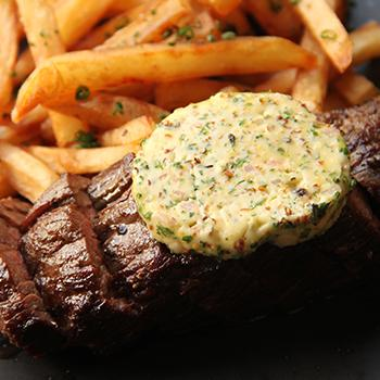 Compound butter on a steak