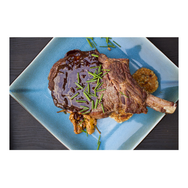 grass-fed beef cowboy ribeye steak with porter chocolate sauce recipe