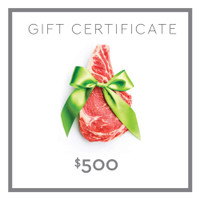 500 Gift Certificate