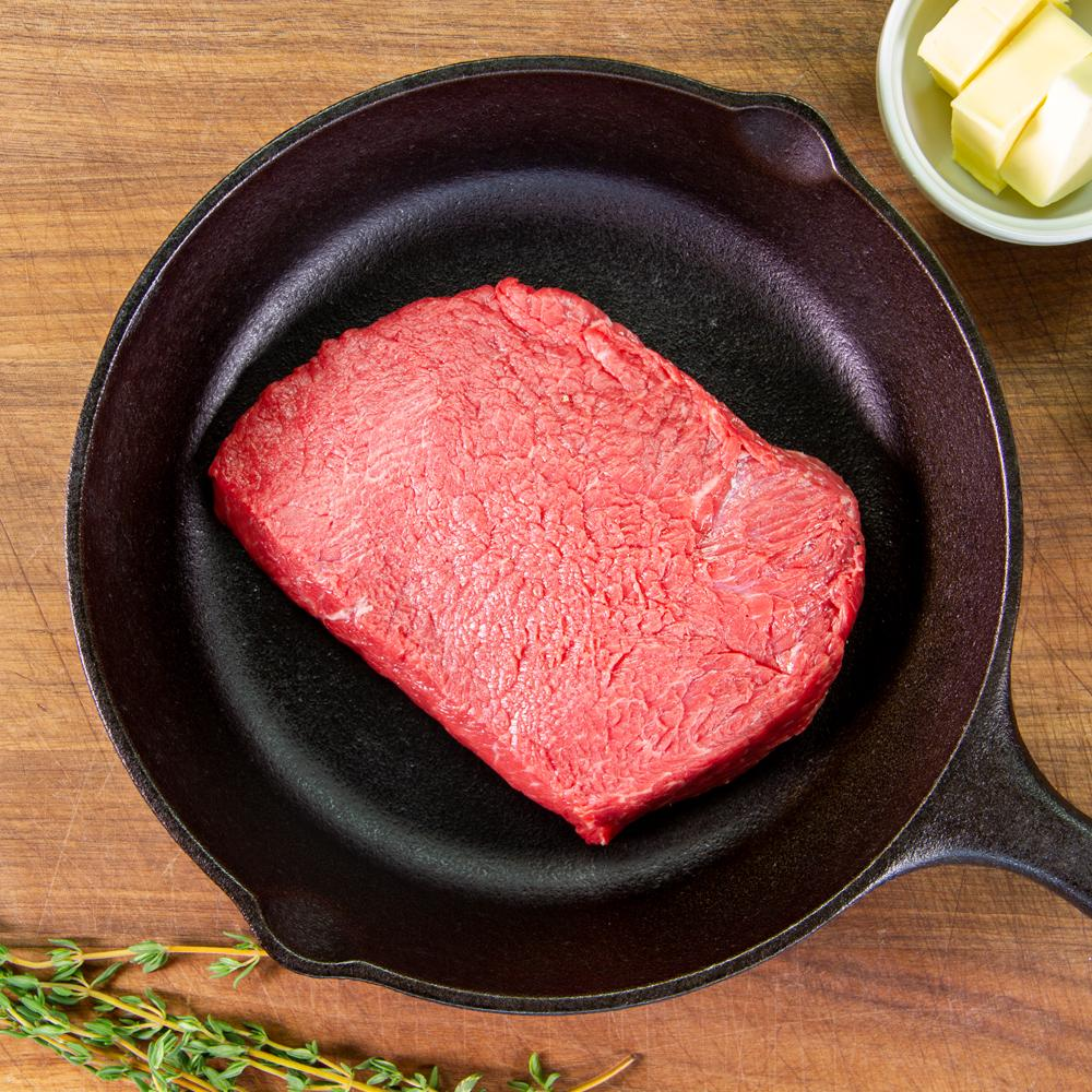 Grass-fed Beef Flat Iron Steaks-3
