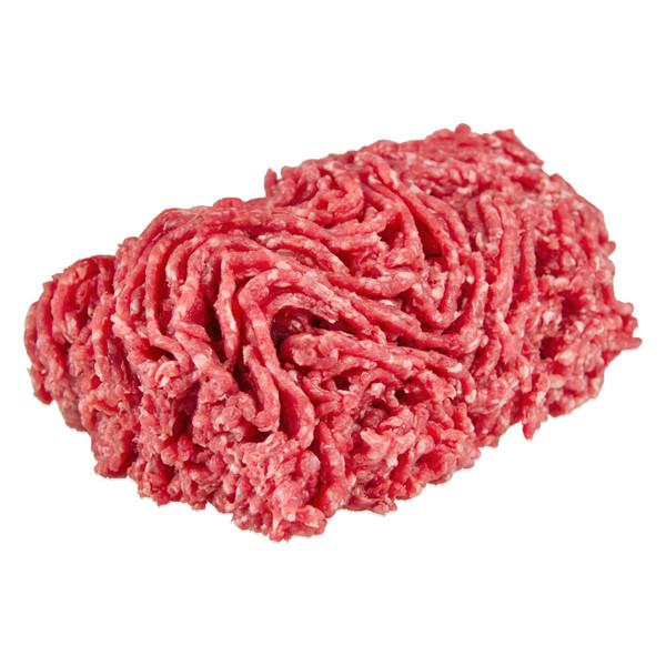 Raw ground grass-fed Angus beef