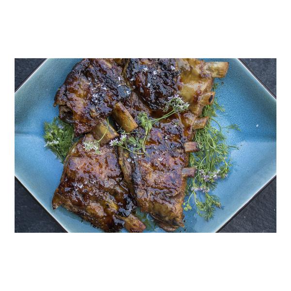 Iberico Pork Baby Back Ribs with Sour Orange-Chile Glaze, recipe