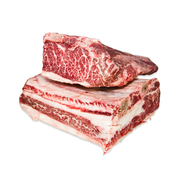 Wagyu bone-in short ribs, raw
