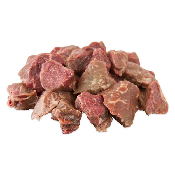 1-inch cubes of raw waygu beef stew meat