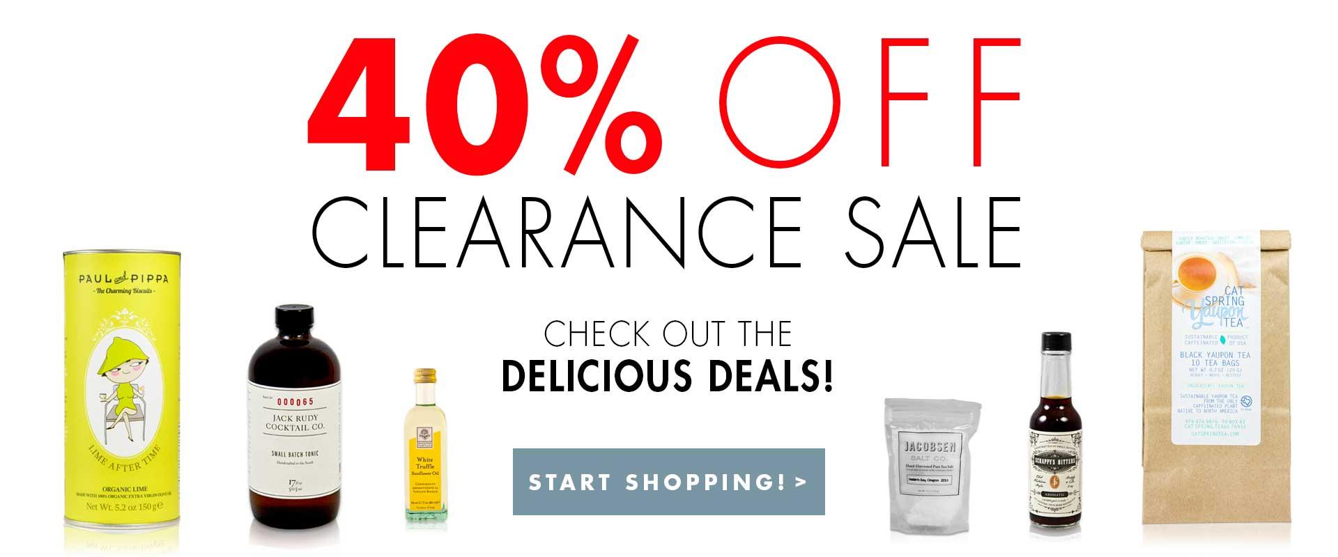 40 percent off sale