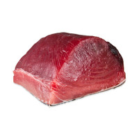 One 10 lb. chunk of raw yellowfin tuna loin