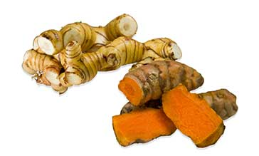 galangal and tumeric root