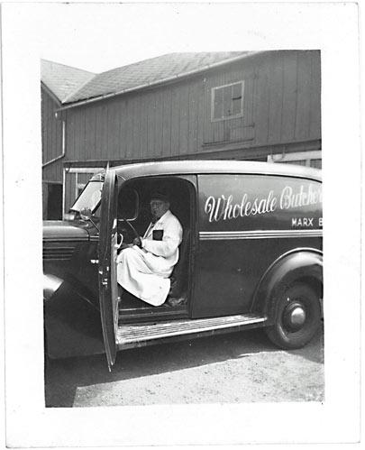 vintage photo of Marx family butchery