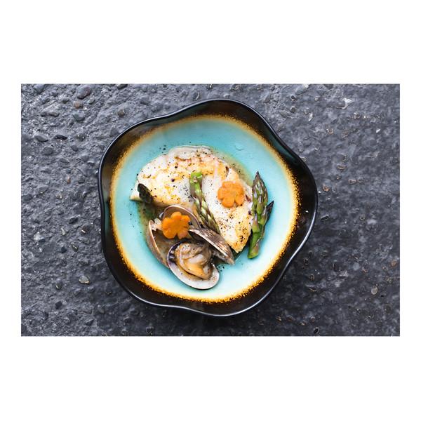 Halibut & clams with black pepper & vanilla butter, recipe