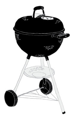 grill drawing