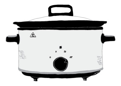 slow cooker drawing